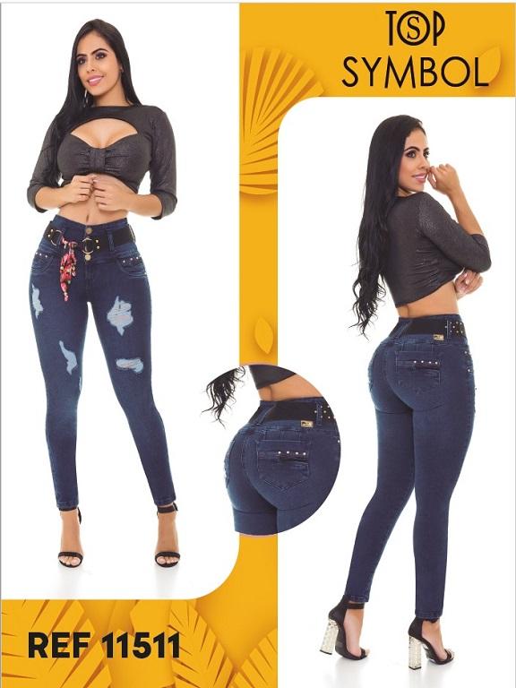 Jeans Levantacola Colombiano Top Symbol - Ref. 101 -11511 Top Symbol