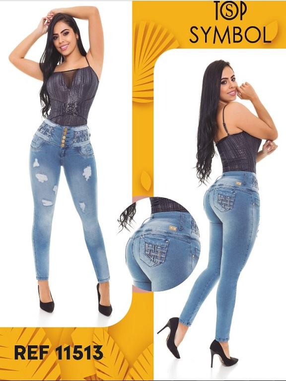 Jeans Levantacola Colombiano Top Symbol - Ref. 101 -11513 Top Symbol