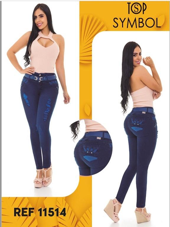 Jeans Levantacola Colombiano Top Symbol - Ref. 101 -11514 Top Symbol