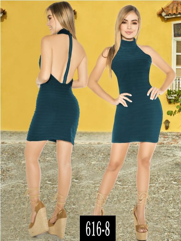 Vestido Colombiano - Ref. 268 -616-8 Verde