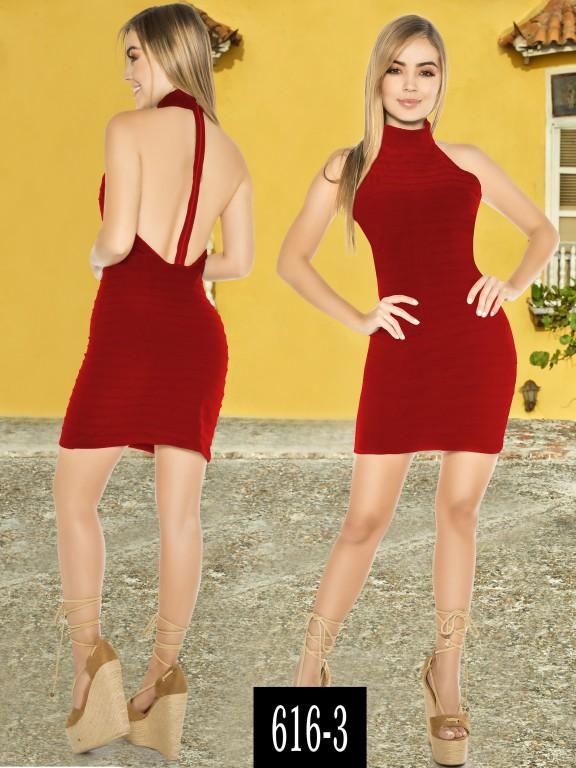 Vestido Colombiano - Ref. 268 -616-3 Rojo