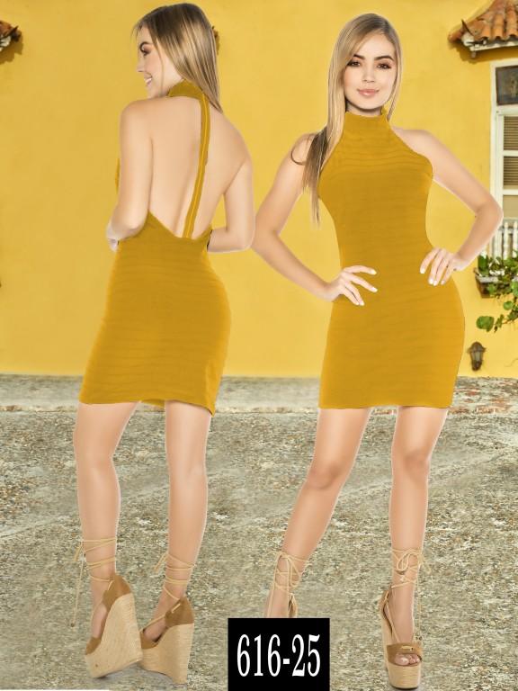Vestido Colombiano - Ref. 268 -616-25 Mostaza