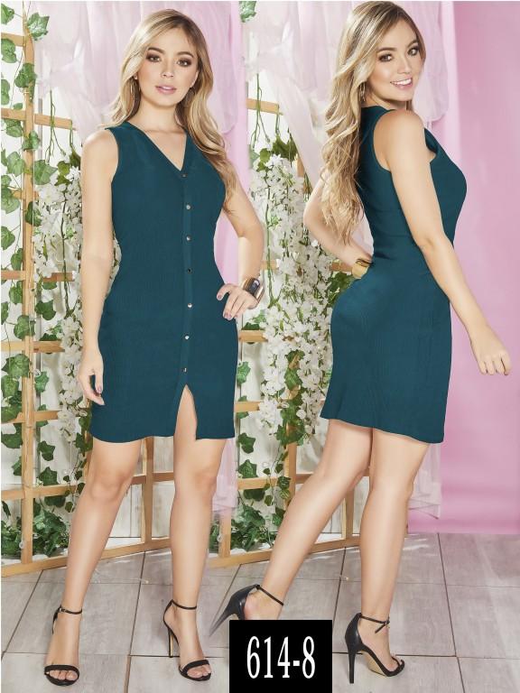 Vestido Colombiano - Ref. 268 -614-8 Verde