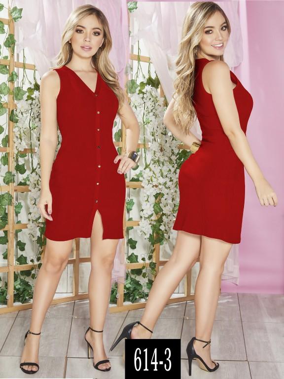 Vestido Colombiano - Ref. 268 -614-3 Rojo