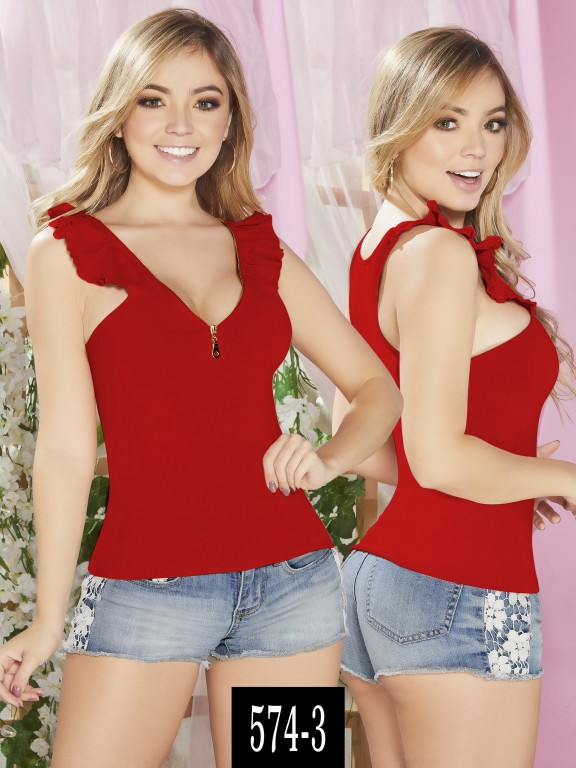 Blusa Colombiana - Ref. 268 -574-3 Rojo