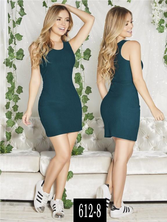 Vestido Colombiano - Ref. 268 -612-8 Verde