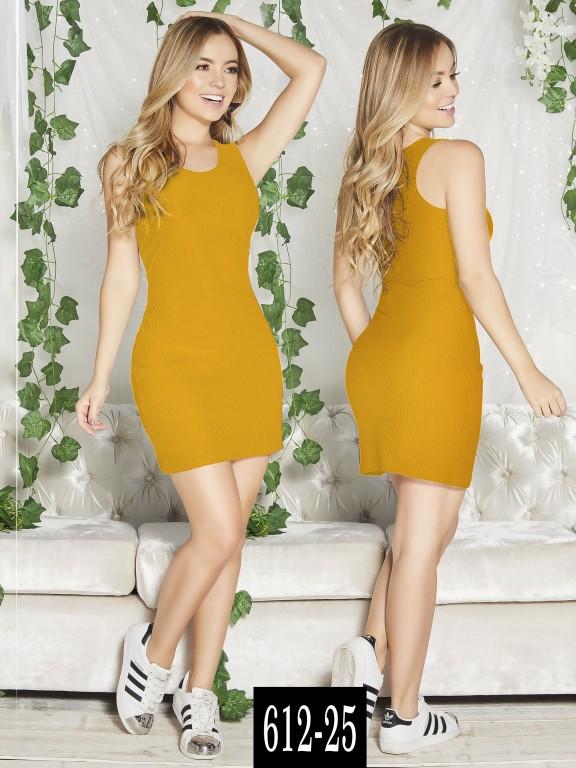 Vestido Colombiano - Ref. 268 -612-25 Mostaza