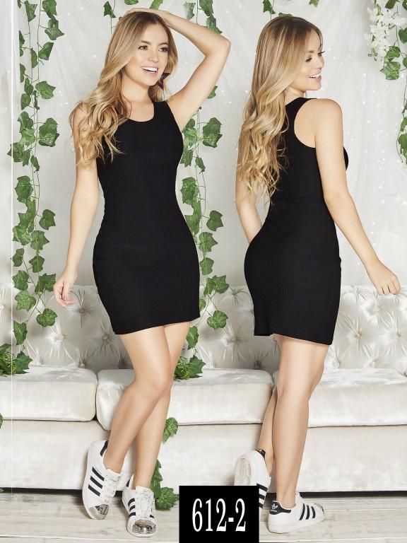 Vestido Colombiano - Ref. 268 -612-2 Negro