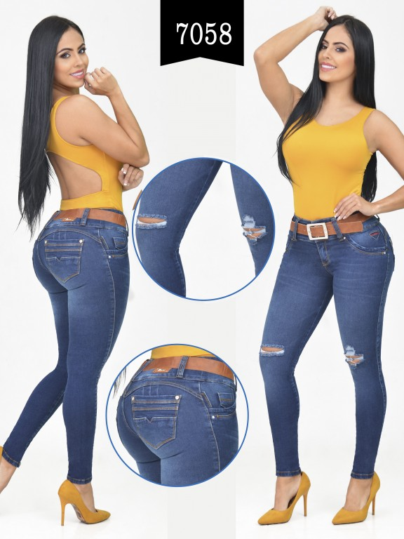 Jeans Levantacola Colombiano - Ref. 261 -7058-R