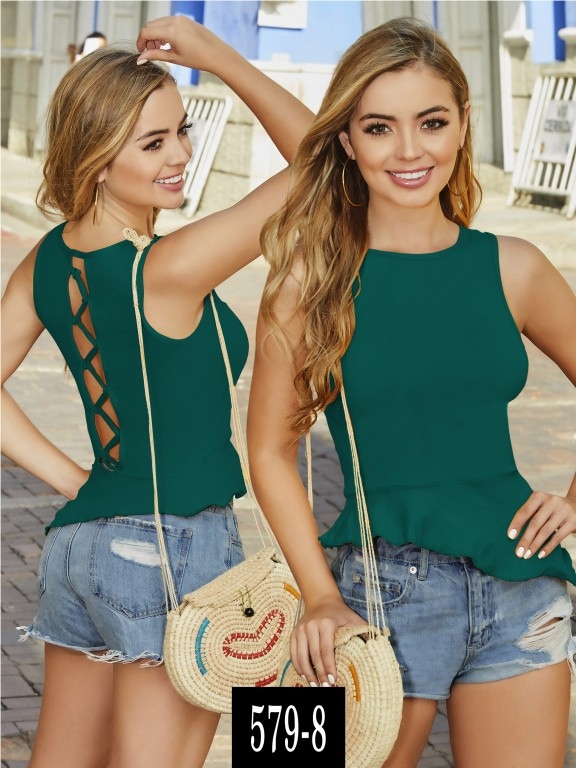 Blusa Colombiana - Ref. 268 -579-8 Verde