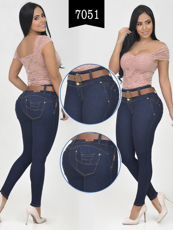 Jeans Levantacola Colombiano - Ref. 261 -7051-R