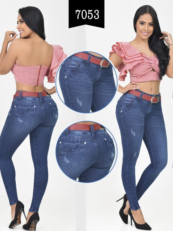 Jeans Levantacola Colombiano - Ref. 261 -7053-R