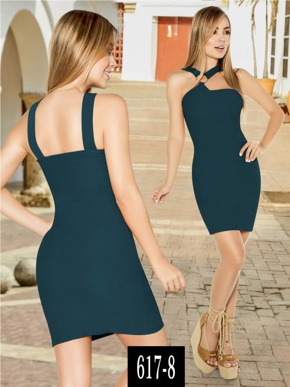 Vestido Colombiano - Ref. 268 -617-8 Verde