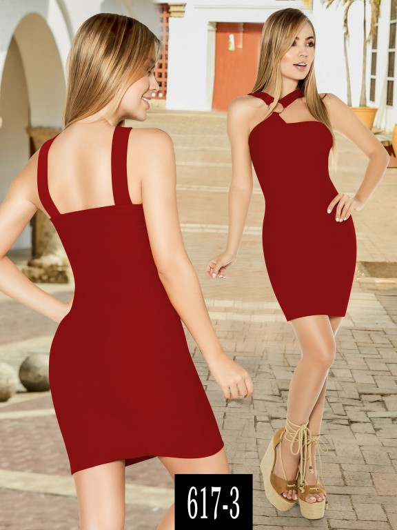 Vestido Colombiano - Ref. 268 -617-3 Rojo