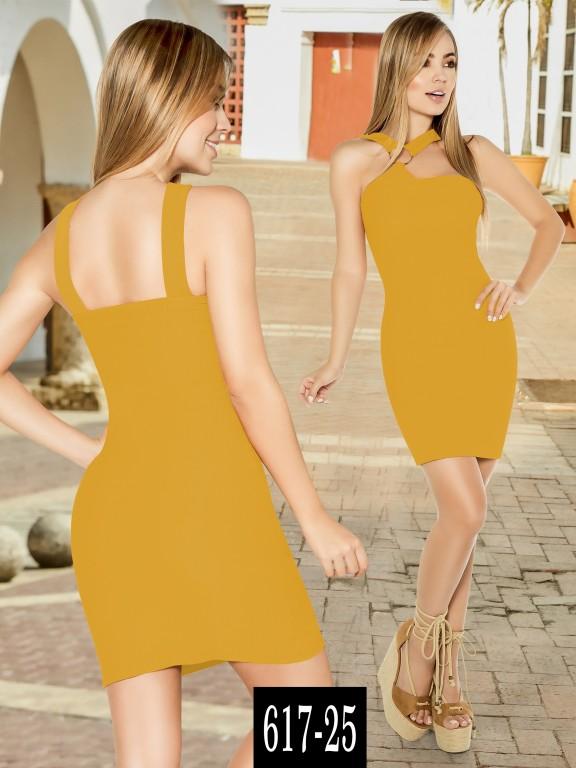 Vestido Colombiano - Ref. 268 -617-25 Mostaza