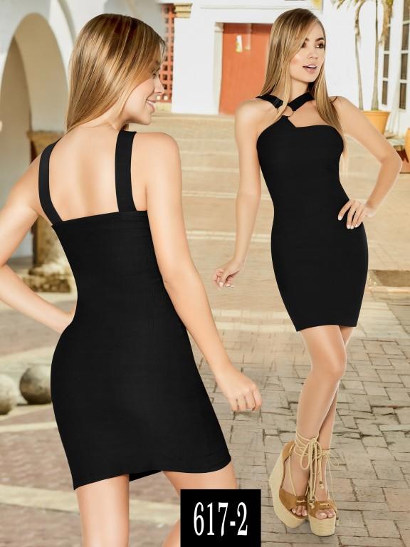 Vestido Colombiano - Ref. 268 -617-2 Negro