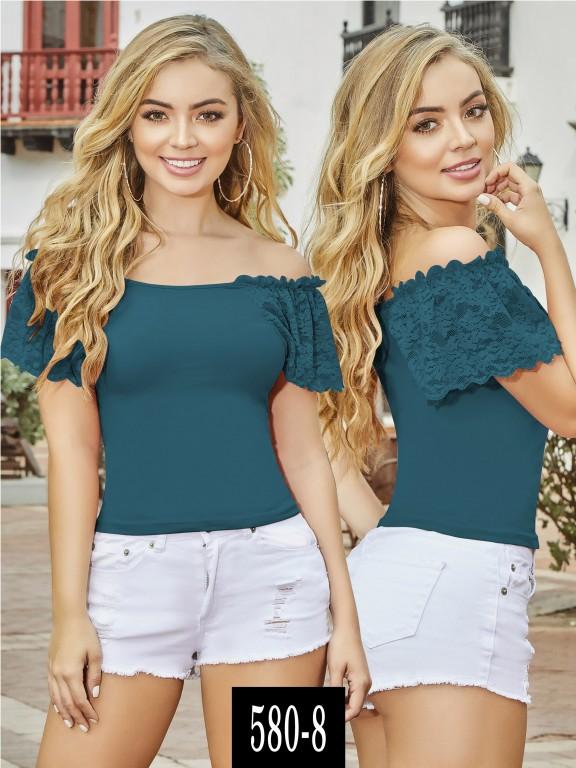 Blusa Colombiana - Ref. 268 -580-8 Verde