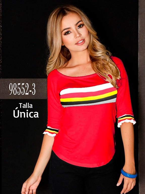 Blusa Colombiana - Ref. 266 -98552-3 Rojo
