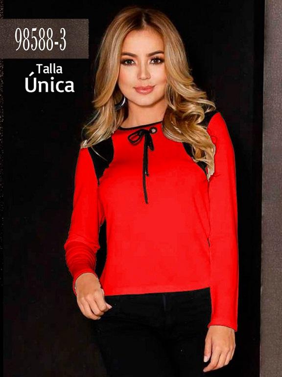 Blusa Colombiana - Ref. 266 -98588-3 Rojo