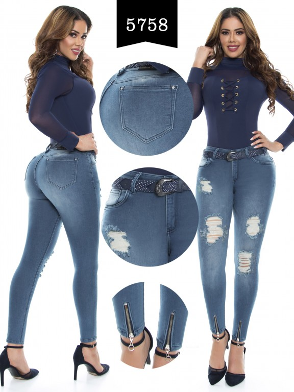 Jeans Levantacola Colombiano - Ref. 283 -5758