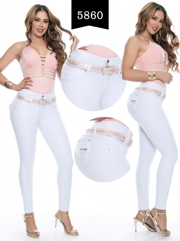 Jeans Levantacola Colombiano - Ref. 283 -5860