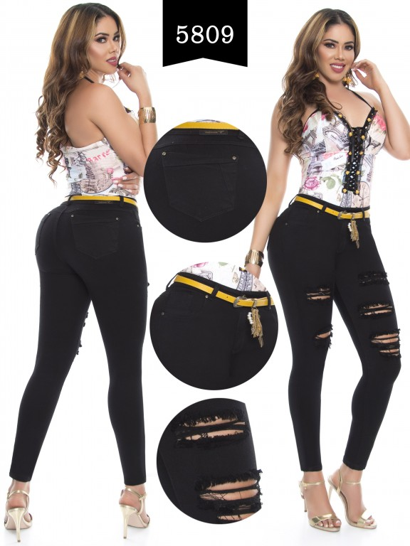 Jeans Levantacola Colombiano - Ref. 283 -5809
