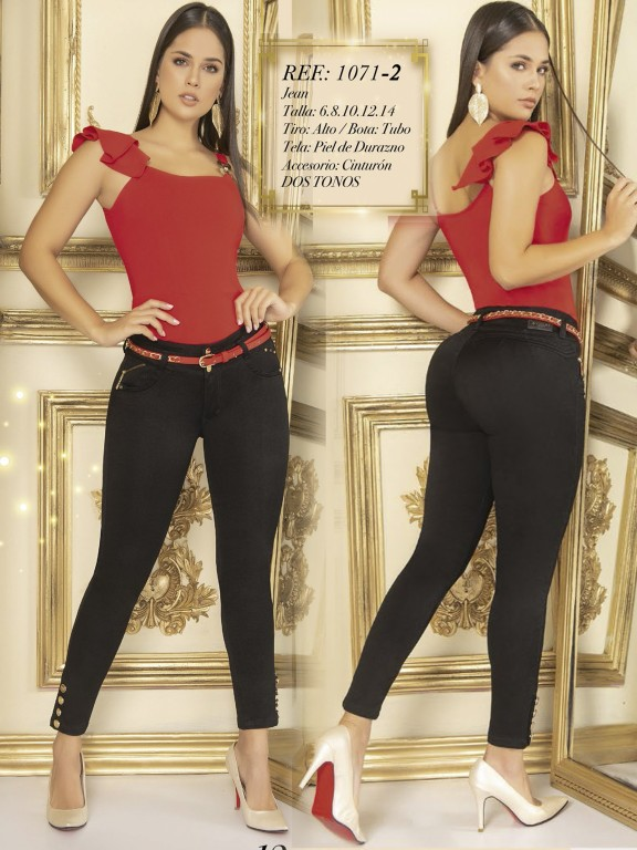 Jeans Colombianos - Ref. 280 -1071-2 Negro