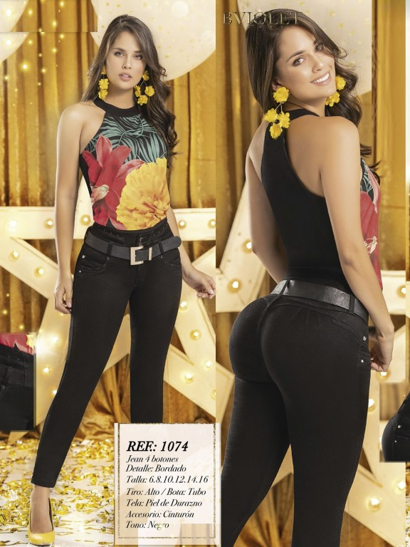 Jeans Levantacola Colombiano  - Ref. 280 -1074