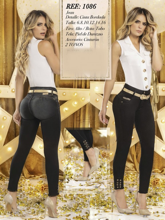Jeans Levantacola Colombiano  - Ref. 280 -1086