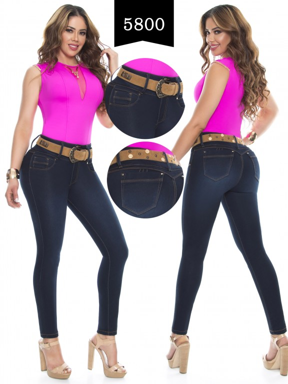Jeans Levantacola Colombiano - Ref. 283 -5800