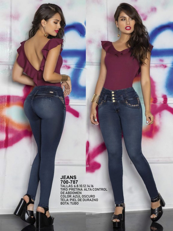 Jeans Levantacola Colombiano - Ref. 287 -0787