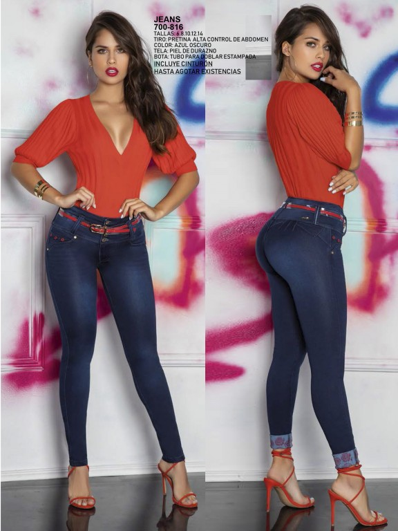 Jeans Levantacola Colombiano - Ref. 287 -0816