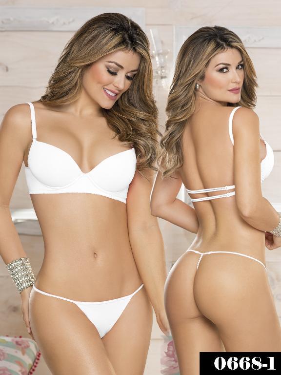 Conjunto Ropa Intima Thaxx Blanco - Ref. 119 -0668-1 Blanco