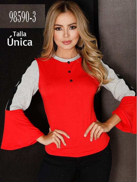 Blusa Colombiana - Ref. 266 -98590-3 Rojo