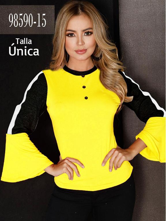 Blusa Colombiana - Ref. 266 -98590-15 Amarillo