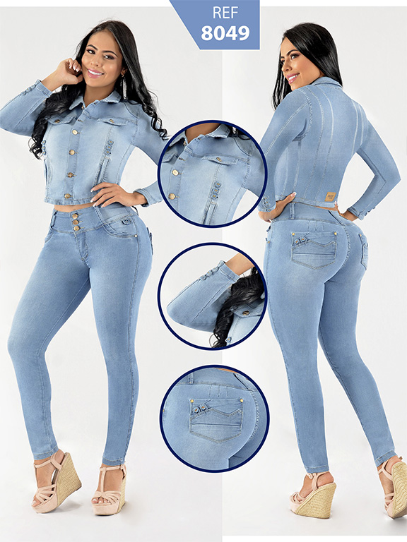 Colombian Set with butt lifting jean and jacket - Ref. 261 -8049
