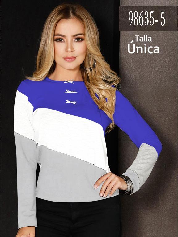 Blusa Colombiana - Ref. 266 -98635-5 Azul