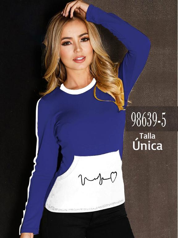 Blusa Colombiana - Ref. 266 -98639-5 Azul