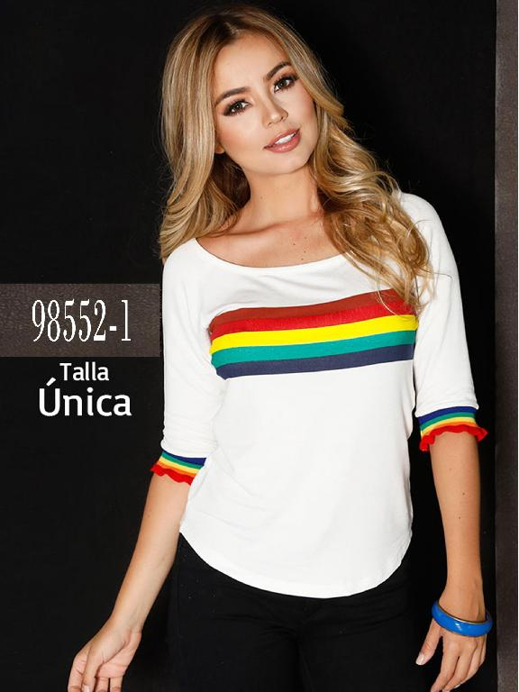 Blusa Colombiana - Ref. 266 -98552-1 Blanca