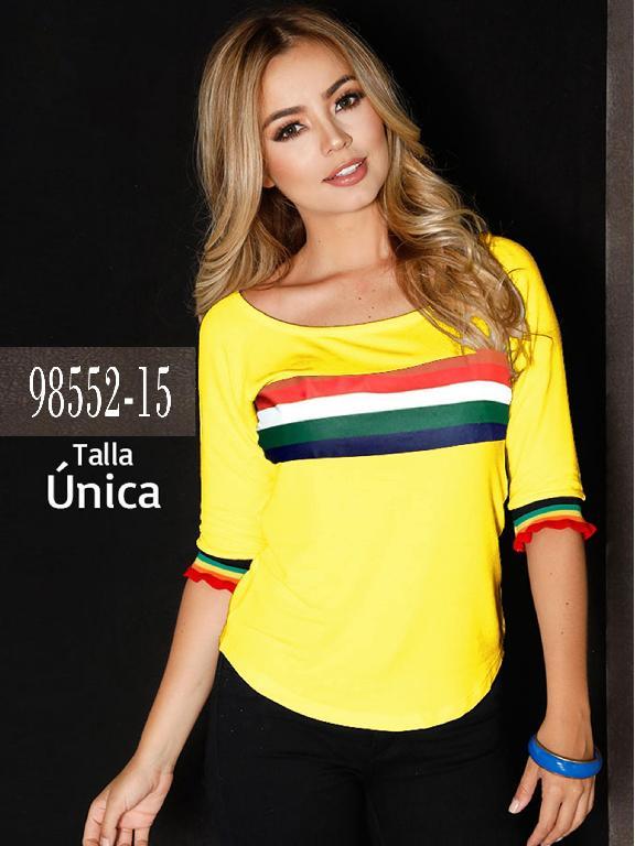Blusa Colombiana - Ref. 266 -98552-15 Amarillo