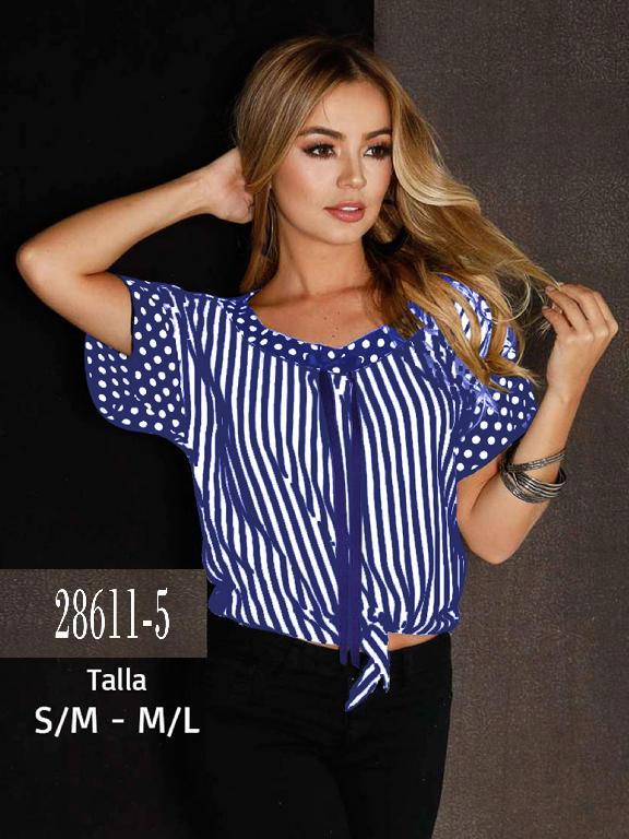 Blusa Colombiana - Ref. 266 -28611-5 Azul