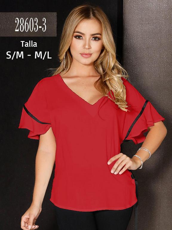 Blusa Colombiana - Ref. 266 -28603-3 Rojo