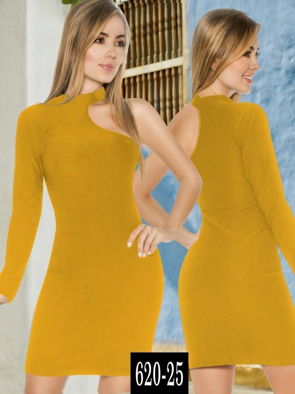 Vestido Colombiano - Ref. 268 -620-25 Mostaza