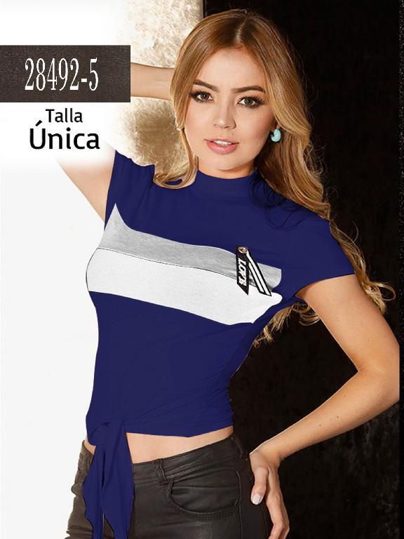 Blusa Colombiana - Ref. 266 -28492-5 Azul