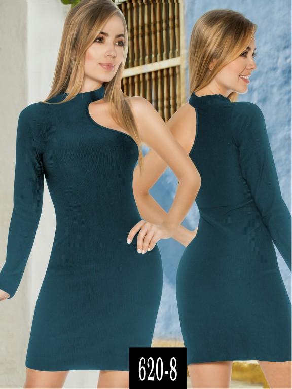 Vestido Colombiano - Ref. 268 -620-8 Verde