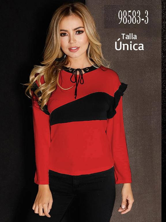 Blusa Colombiana - Ref. 266 -98583-3 Rojo