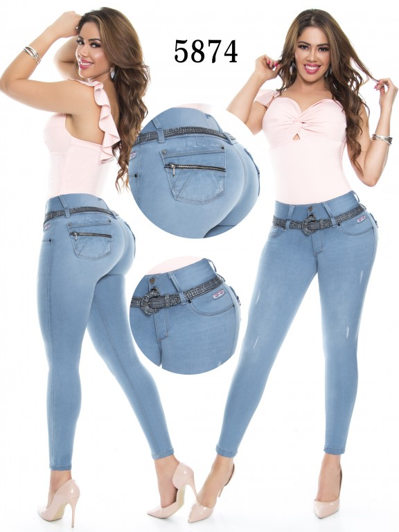 Jeans Levantacola Colombiano - Ref. 283 -5874