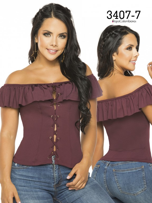 Colombian Fashion Blouse - Ref. 119 -3407-7