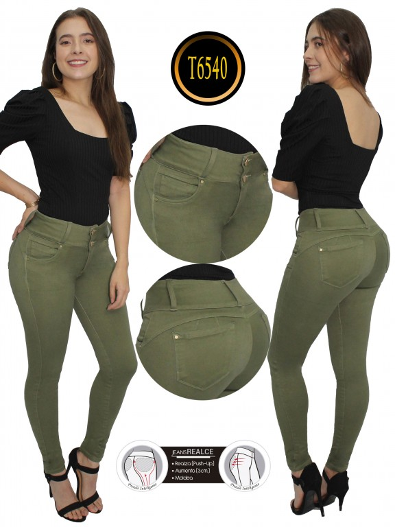 Jeans Colombiano  - Ref. 278 -6540 Verde