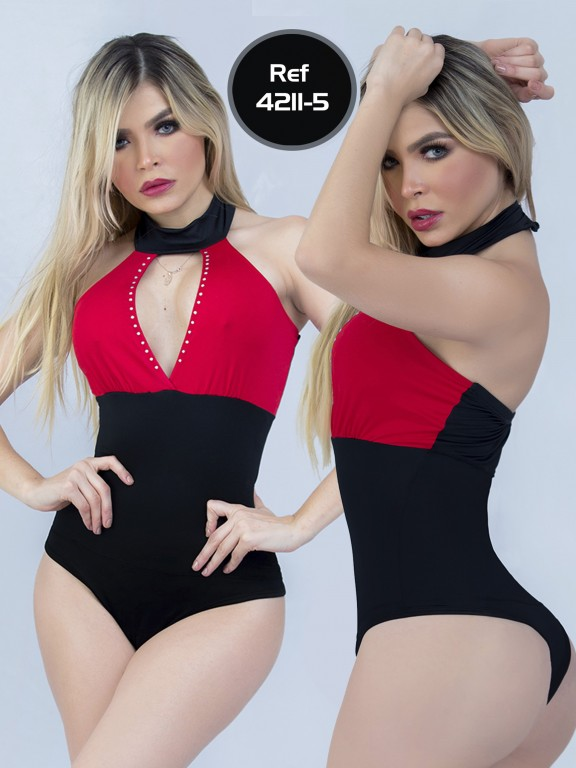 Body Reductor Colombiano Capellini  - Ref. 114 -4211-5 Rojo